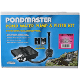 Image of 022112 Danner Pondmaster Pond Fountain Pump Filter Kit 250 Gph Pmk 1250 & Fountain Head
