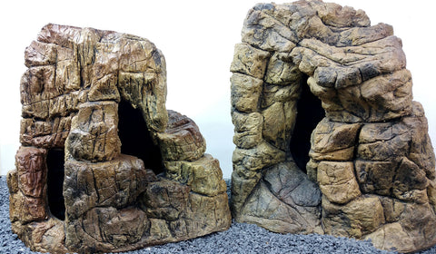 Image of Jungle Bob Aquarium Cave Beige Bundle (Sm, Med, Lg, XL, XXL) 8808