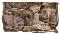 Jungle Bob 3D Aquarium Background 24x12 Inch For 15 Gallon Rock Beige 7810