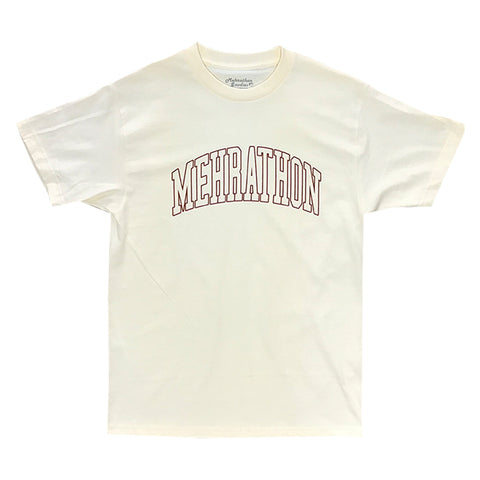 mehrathon college outline tee (cream)