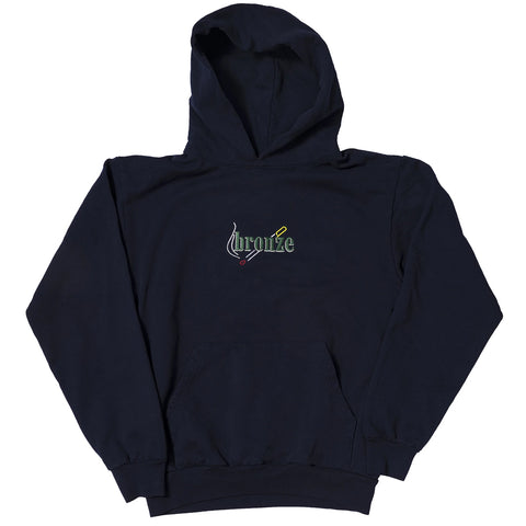 bronze smoke hoody (navy)