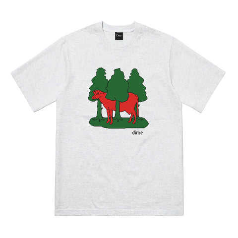 dime forest cow tee (ash)