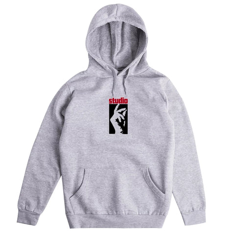 studio stax pullover hood (heather grey)