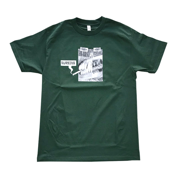 nursing smoking tee (forest green)