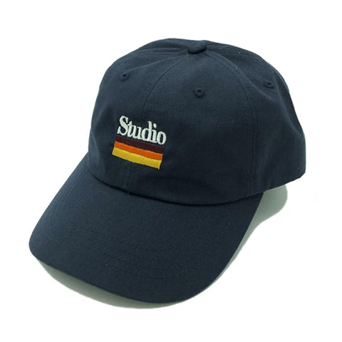 studio mellow stripes dad hat (navy)