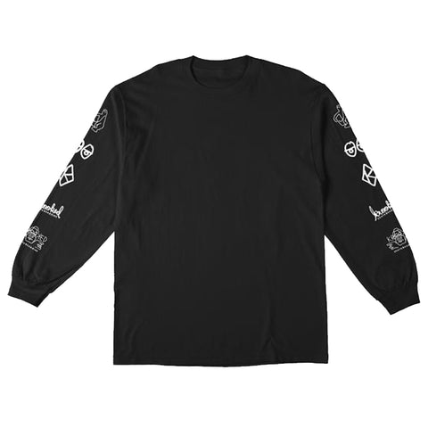 krooked naskar long sleeve tee (black)