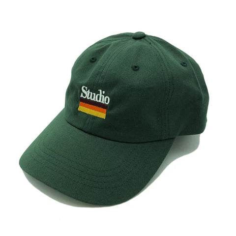 studio mellow stripes dad hat (forest)