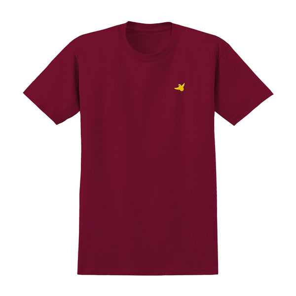 krooked og bird embroidered tee (cardinal)