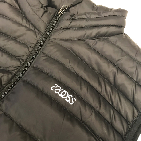 oss coco pack-able down vest (black)