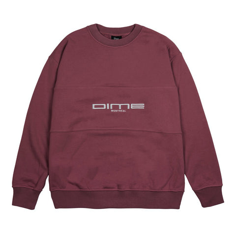 dime montreal french terry crew neck (burgundy)