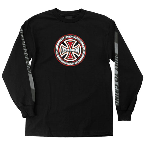 independent t/c blaze long sleeve tee (black)