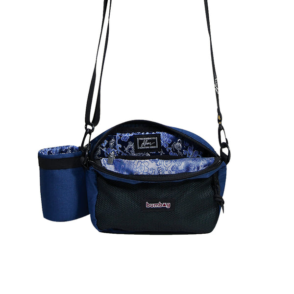 bumbag louie lopez compact xl hip bag (forest green/navy blue))