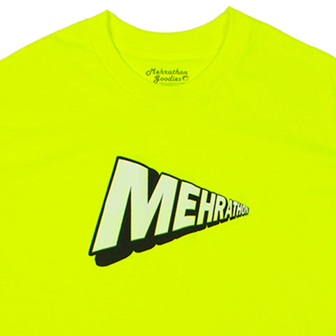 mehrathon screen saver tee (neon green)