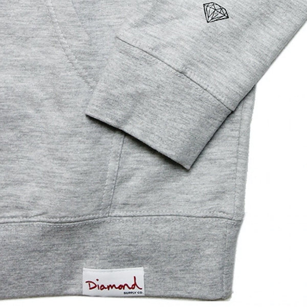diamond three cops hood (heather grey)