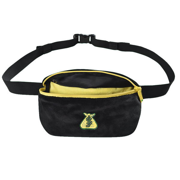 bumbag shake junt hip pouch (black/yellow)