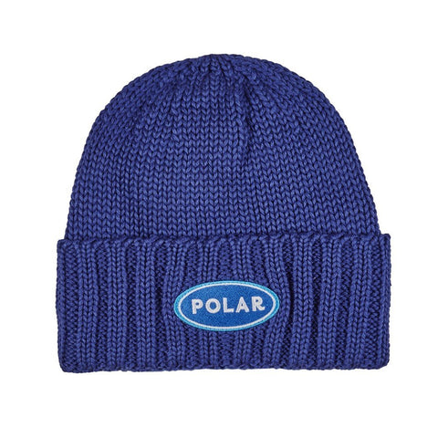 polar patch beanie (blue)