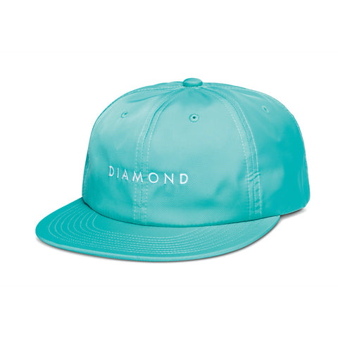 diamond leeway 6-panel unstructured snapback cap (teal)