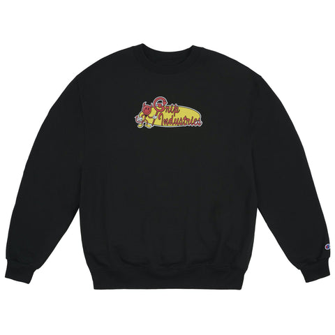 classic grip industries crew neck (black)