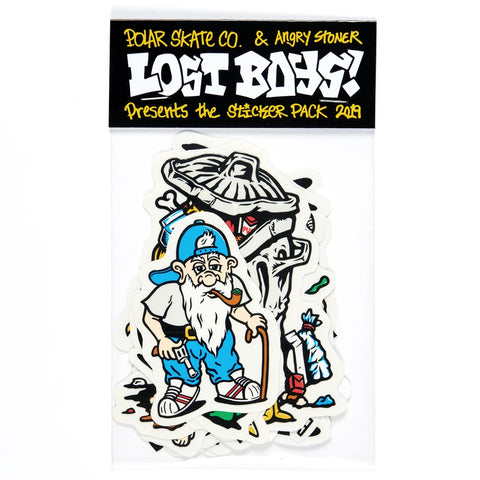 polar lost boys sticker pack