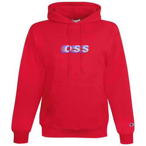 oss x champion speedway pullover hoodie (red)
