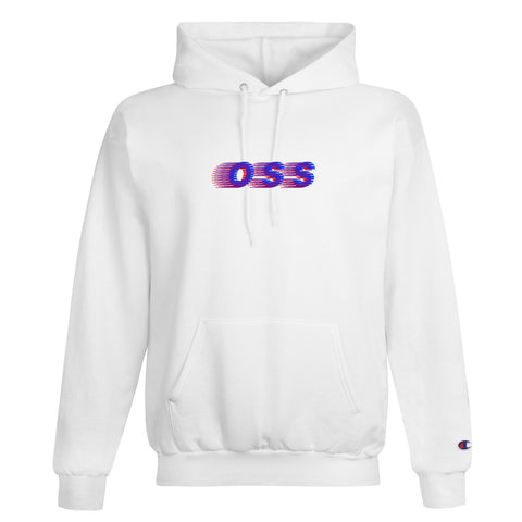 oss x champion speedway pullover hoodie (white)