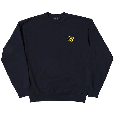bronze embroidered b logo crew neck (navy)
