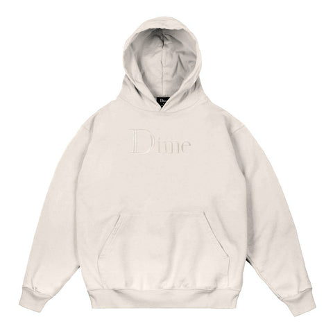 dime classic logo embroidered hood (cream)