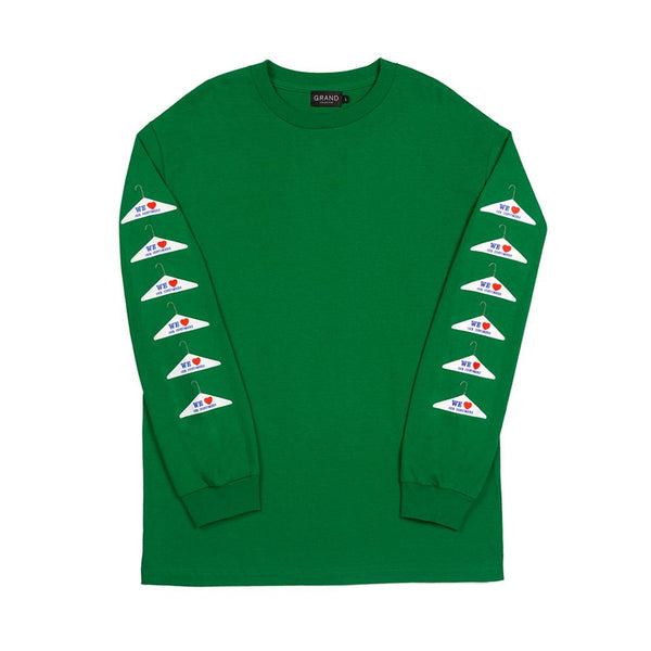 grand collection dry cleaning long sleeve (green)