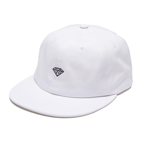 diamond brilliant unstructured snapback cap (white)