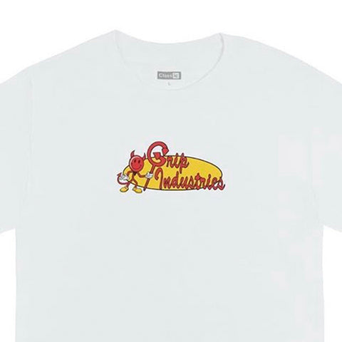 classic grip industries tee (white)