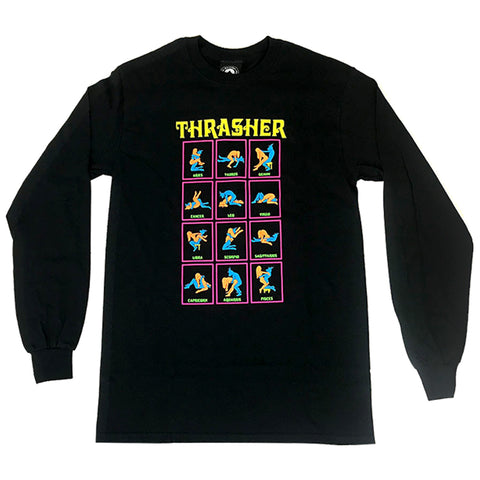 thrasher black light long sleeve (black)