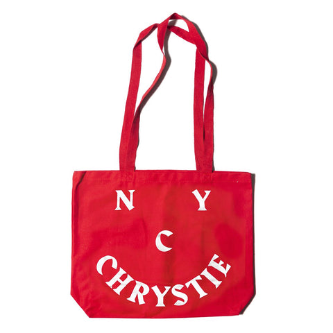 chrystie smile tote bag (red)