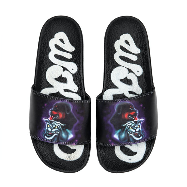 wknd pupps slides (black)