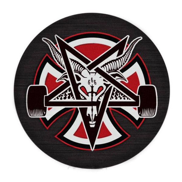 indy x thrasher pentagram cross patch