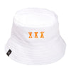 sour sourglass reversible bucket hat (white/navy)