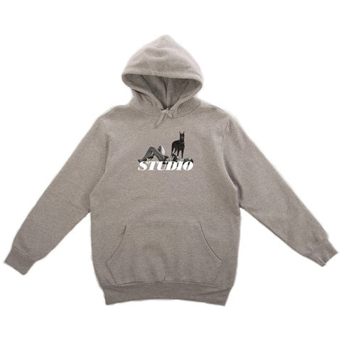 studio dobermann hoodie (heather grey)