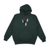 studio blue sky hoodie (forest green)