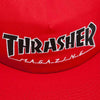 thrasher outlined snapback hat (red)