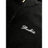 studio relax quarter zip pullover (black)