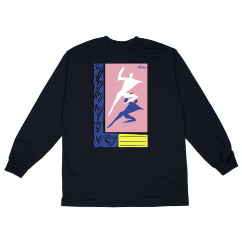 studio just dance long sleeve tee (navy)