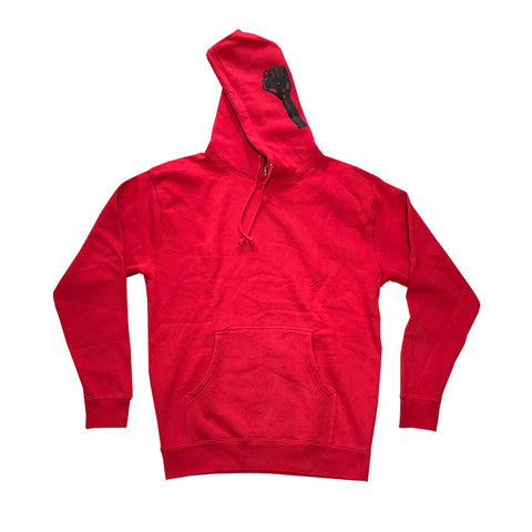hardies side print hood (red)