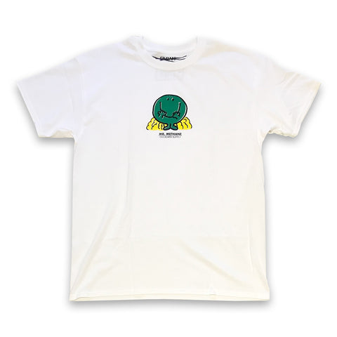 oss mr. methane tee (white)