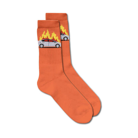 skate mental prius fire socks (orange)