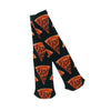 skate mental pizza slice socks (black)