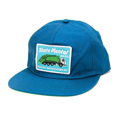 skate mental waste management cap (blue)
