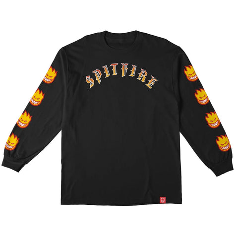 spitfire old e bighead fill sleeve long sleeve tee (black)