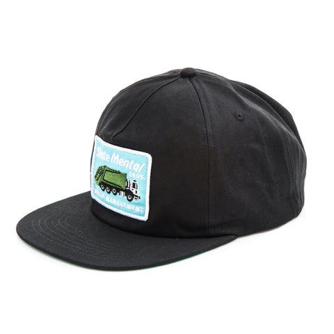 skate mental waste management cap (black)