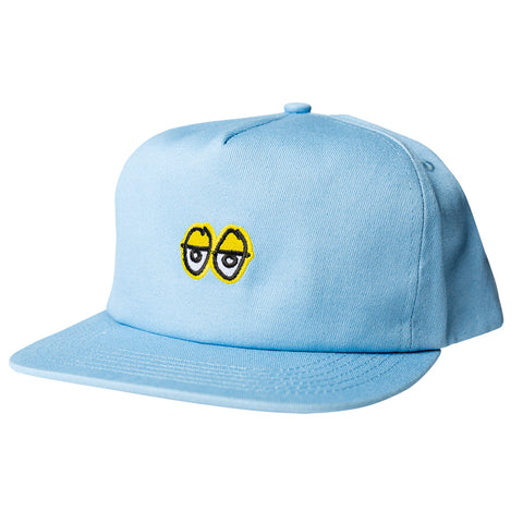 krooked eyes snapback cap (light blue)