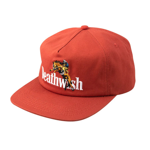 deathwish high horse snapback cap (orange)