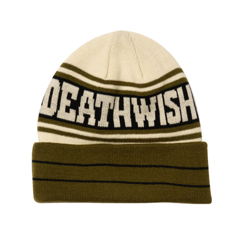deathwish the truth beanie (olive/tan)